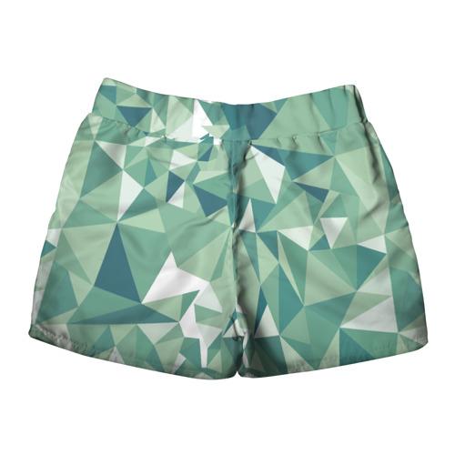 Женские шорты 3D Зеленые полигоны Фото 01