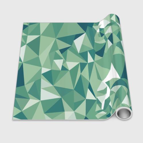 Бумага для упаковки 3D Зеленые полигоны Фото 01