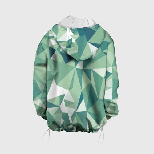 Детская куртка 3D Зеленые полигоны Фото 01