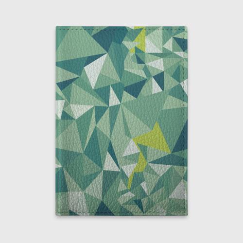Обложка для автодокументов Зеленые полигоны Фото 01