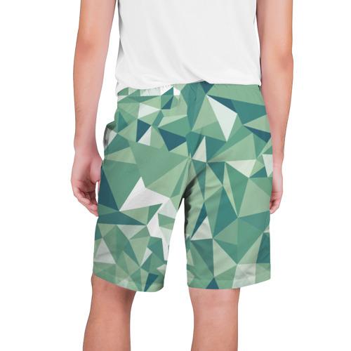 Мужские шорты 3D  Фото 02, Зеленые полигоны