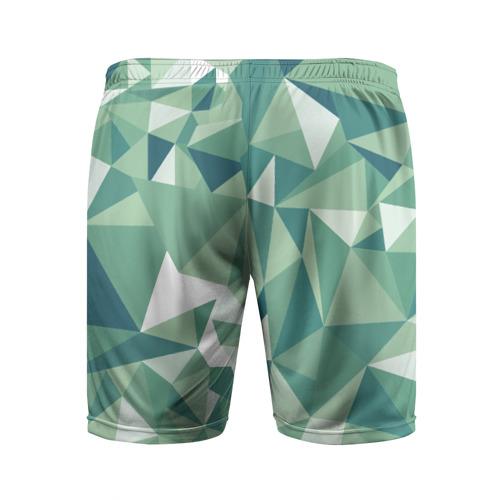Мужские шорты 3D спортивные  Фото 02, Зеленые полигоны