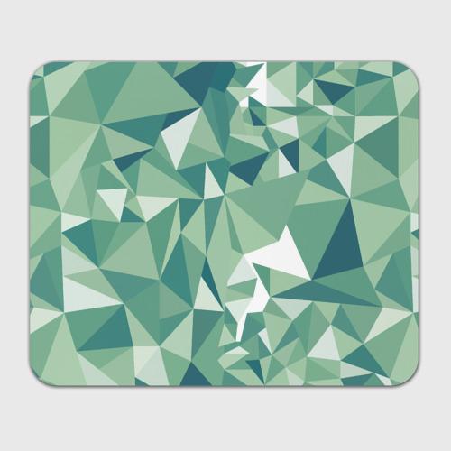 Коврик для мышки прямоугольный Зеленые полигоны Фото 01