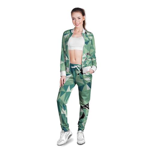 Женская олимпийка 3D  Фото 03, Зеленые полигоны