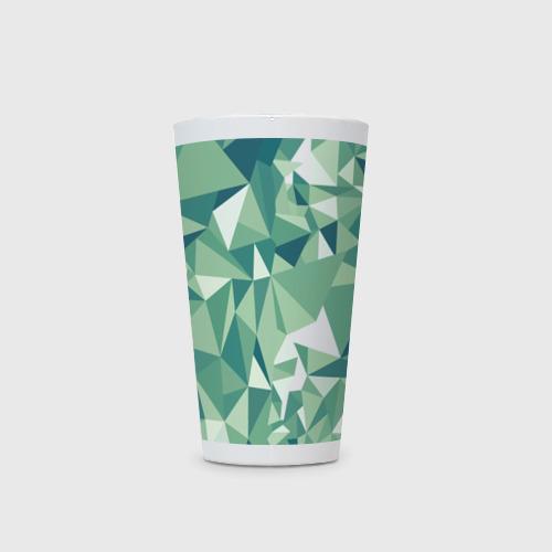 Кружка Латте Зеленые полигоны Фото 01