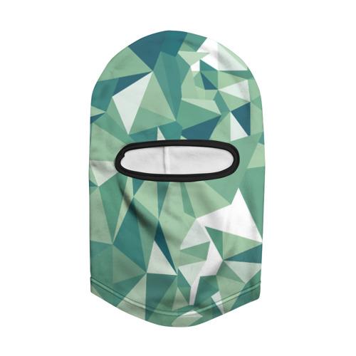 Балаклава 3D Зеленые полигоны Фото 01