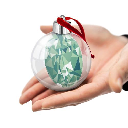 Ёлочный шар Зеленые полигоны Фото 01
