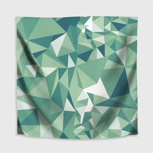 Скатерть 3D Зеленые полигоны Фото 01