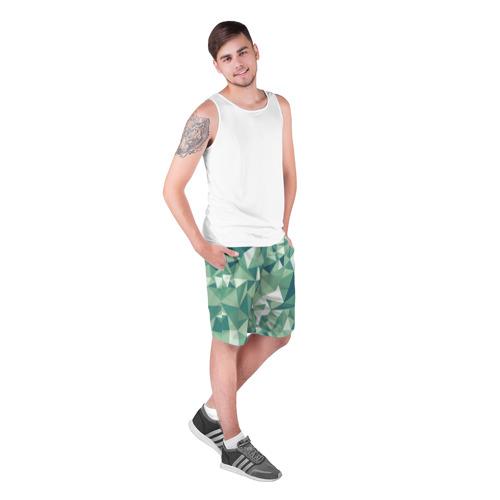 Мужские шорты 3D  Фото 03, Зеленые полигоны