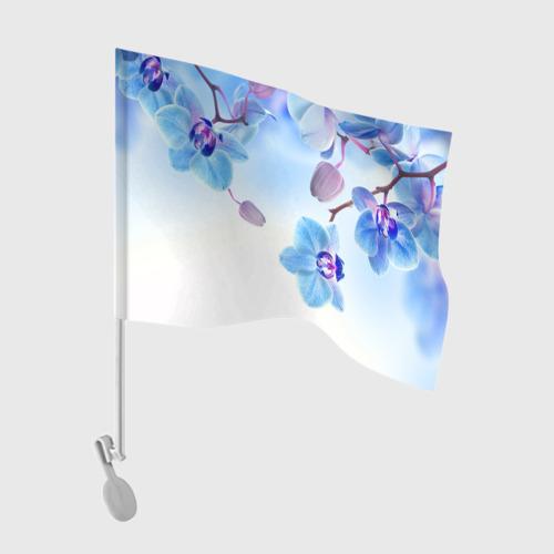 Флаг для автомобиля Голубая орхидея Фото 01