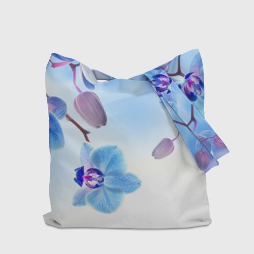 Сумка 3D повседневная Голубая орхидея Фото 01