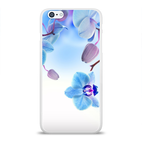 Чехол для Apple iPhone 6Plus/6SPlus силиконовый глянцевый Голубая орхидея Фото 01