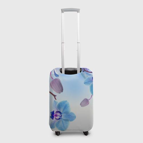 Чехол для чемодана 3D Голубая орхидея Фото 01