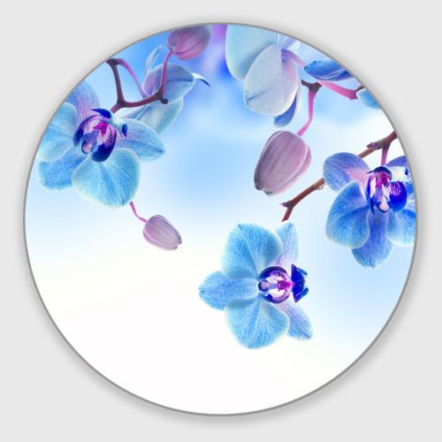 Коврик для мышки круглый Голубая орхидея Фото 01