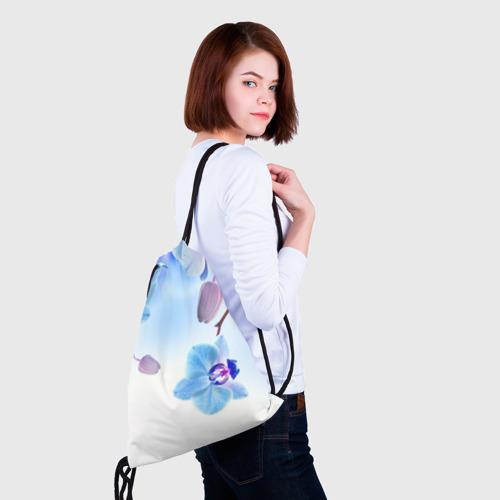 Рюкзак-мешок 3D Голубая орхидея Фото 01