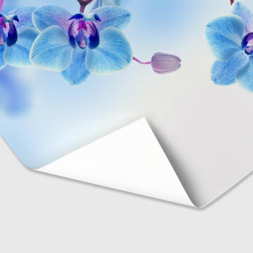 Бумага для упаковки 3D Голубая орхидея Фото 01