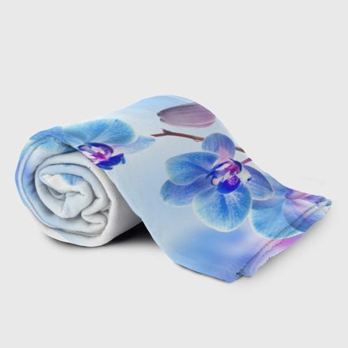 Плед 3D Голубая орхидея Фото 01
