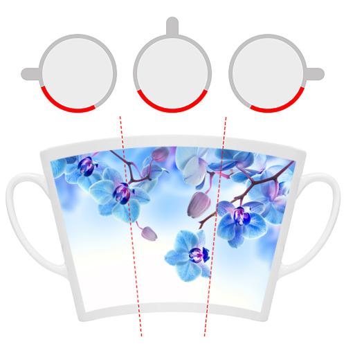 Кружка Латте Голубая орхидея Фото 01