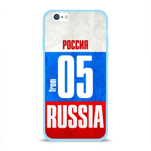 Чехол для Apple iPhone 6 силиконовый глянцевый Russia (from 05) Фото 01
