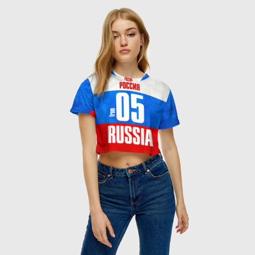 Женская футболка 3D укороченная  Фото 04, Russia (from 05)