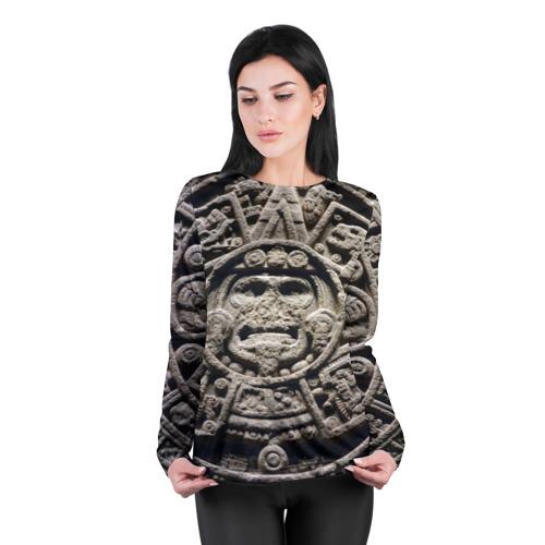 Женский лонгслив 3D для беременных  Фото 04, Календарь ацтеков