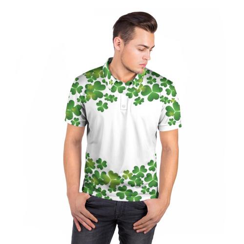 Мужская рубашка поло 3D Клевер Фото 01