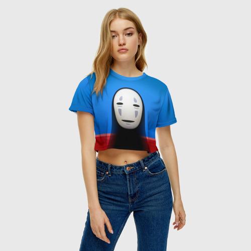 Женская футболка 3D укороченная  Фото 04, Унесённые призраками