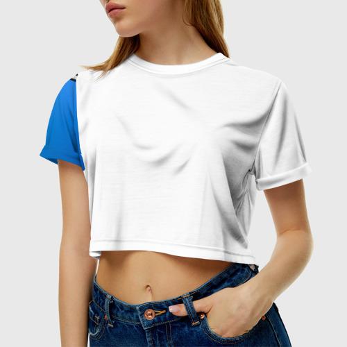 Женская футболка 3D укороченная  Фото 01, Унесённые призраками