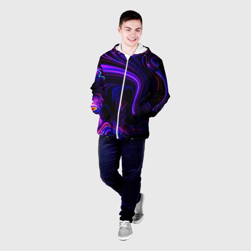 Мужская куртка 3D  Фото 03, Цветные разводы