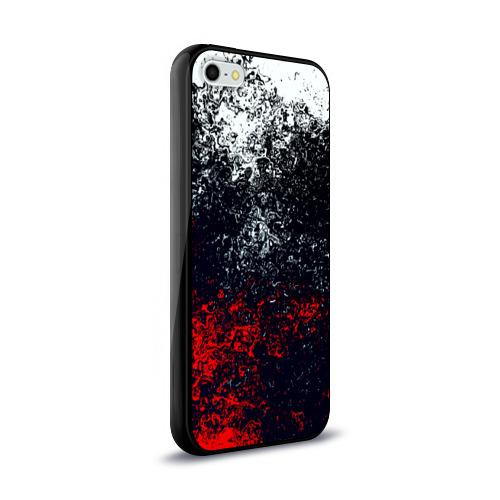 Чехол для Apple iPhone 5/5S силиконовый глянцевый Брызги красок Фото 01