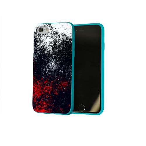 Чехол для Apple iPhone 8 силиконовый глянцевый Брызги красок Фото 01