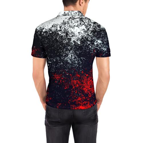 Мужская рубашка поло 3D Брызги красок Фото 01