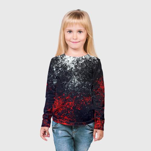 Детский лонгслив 3D Брызги красок Фото 01