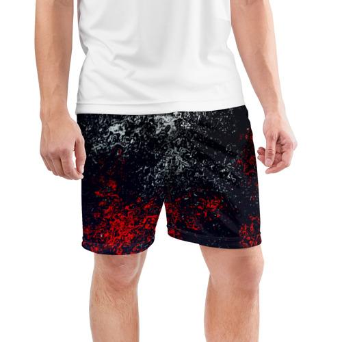 Мужские шорты 3D спортивные  Фото 03, Брызги красок