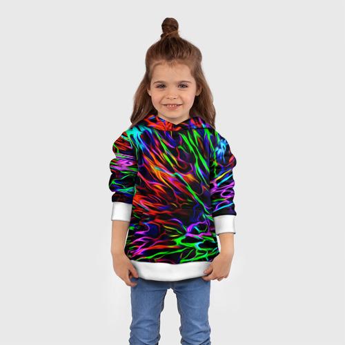 Детская толстовка 3D Разноцветные разводы