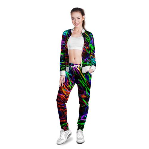 Женская олимпийка 3D  Фото 03, Разноцветные разводы