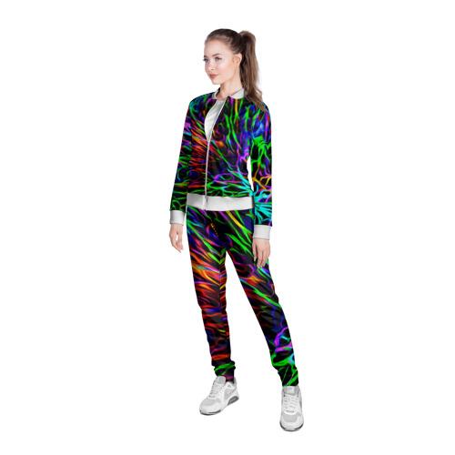 Женская олимпийка 3D  Фото 05, Разноцветные разводы