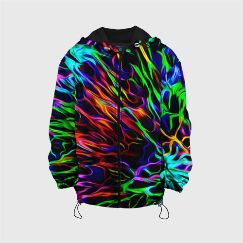 Детская куртка 3D Разноцветные разводы Фото 01