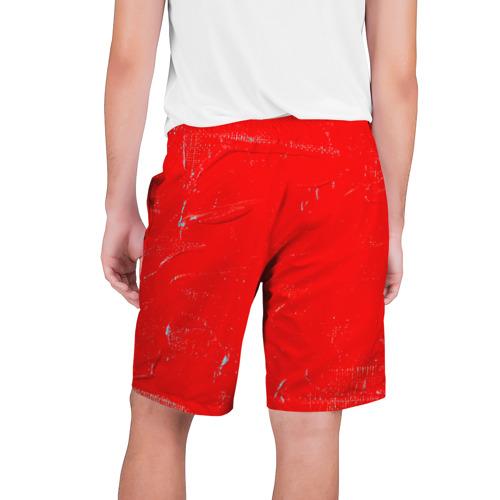 Мужские шорты 3D  Фото 02, Красная краска
