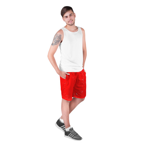 Мужские шорты 3D  Фото 03, Красная краска