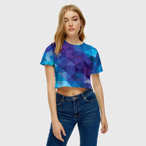 Женская футболка 3D укороченная  Фото 04, Абстракция