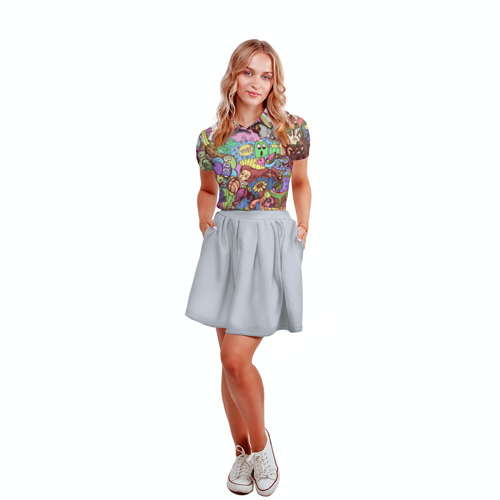 Женская рубашка поло 3D  Фото 04, абстракция