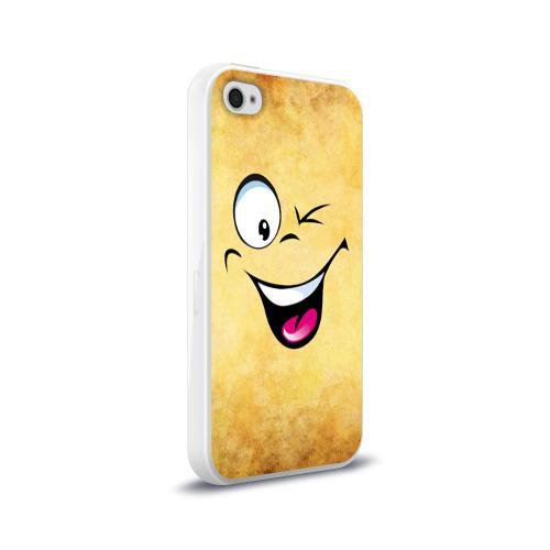 Чехол для Apple iPhone 4/4S силиконовый глянцевый Неисчерпаемый позитив Фото 01