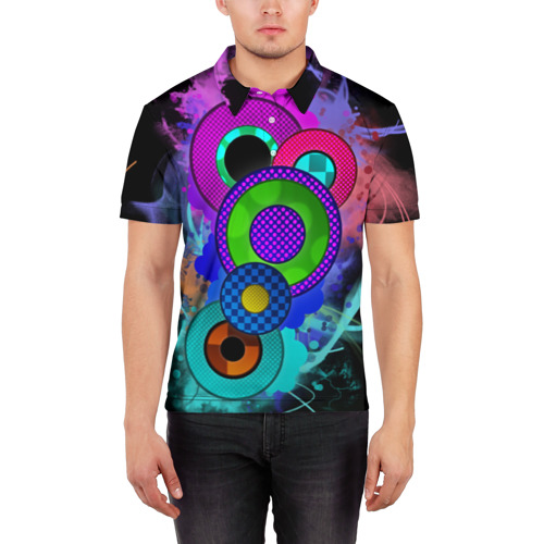 Мужская рубашка поло 3D Абстракция Фото 01