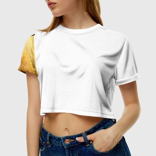 Женская футболка 3D укороченная  Фото 01, Мы на позитиве (L)