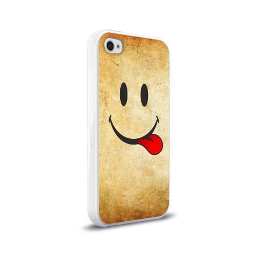 Чехол для Apple iPhone 4/4S силиконовый глянцевый Мы на позитиве (R) Фото 01