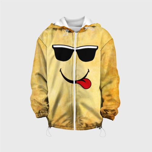 Детская куртка 3D  Фото 01, Смайл в очках (L)