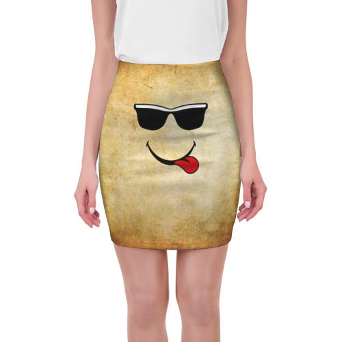 Мини-юбка 3D Смайл в очках (L) от Всемайки