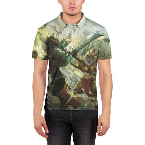 Мужская рубашка поло 3D  Фото 03, Дуэль