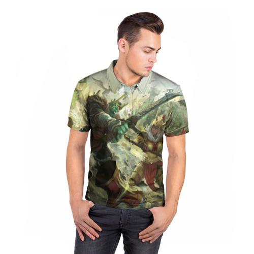Мужская рубашка поло 3D  Фото 05, Дуэль